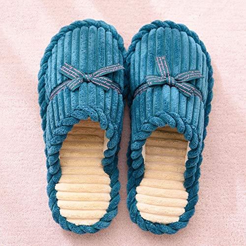 Dell'inverno Scarpe Per Donne Dell'arco Domestiche Delle Calde Le Zlulu Pantofole Piane Dell'interno fxqZF6wP