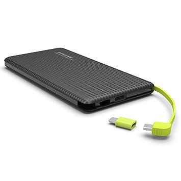 PINENG PN-951 - Batería portátil de carga rápida de 10000 mAh, cargador de polímero de litio con doble salida USB: Amazon.es: Electrónica