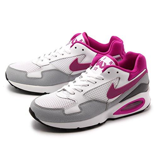 Wlf Air Zapatillas Mujer Deporte Max de Blanco White Gry Nike para Anthrc Wmns Flsh St Fchs WRIBTw5Hq