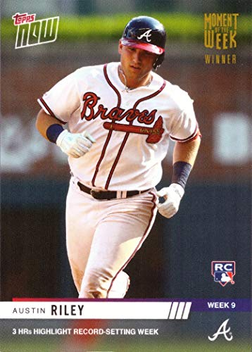 2019 Topps Now Moment of the Week Gold Winner #MOW-9W Austin Riley Baseball Rookie Card - Only 420 made!