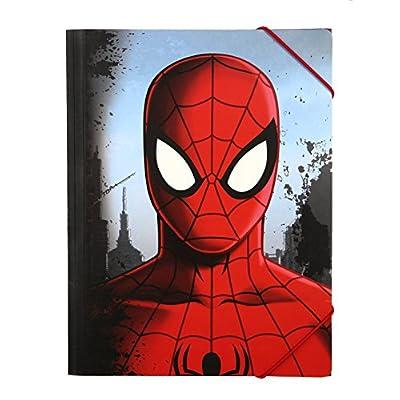 Carpeta archivadora con gomas A4. Spiderman: Oficina y papelería