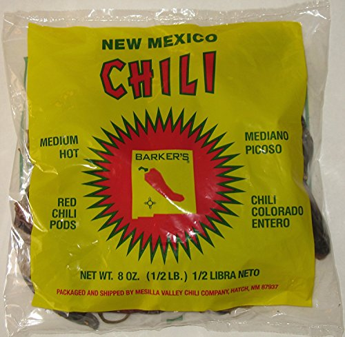 (Barker's Medium Spicy Dried Red Chili Pods From Hatch, New Mexico (1)