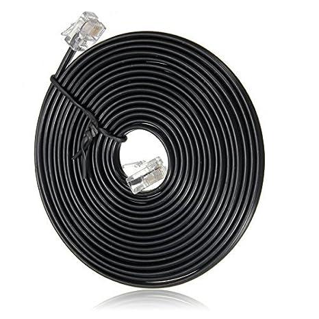 SODIAL(R) RJ11 6P4C Cuerda Cable de telefono Modem ADSL 5 Metros: Amazon.es: Electrónica