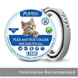 PUMEK Flea and Tick Control for Cats - 12 Months Flea Protection and Treatment for Cats - Natural Active Ingredients for Prevention - Easily Adjustable and Waterproof Design [Upgrade Version]