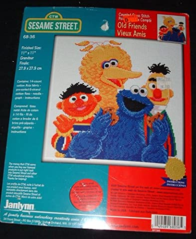 Sesame Street Old Friends Counted Cross Stitch 11