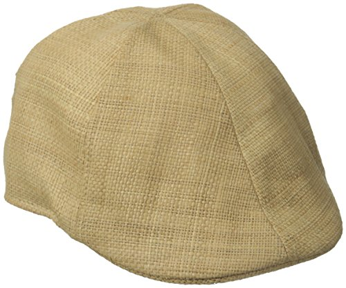 San Diego Hat Co. Men's Raffia Straw Driver Hat with Stretch Band, Natural, Large X-Large