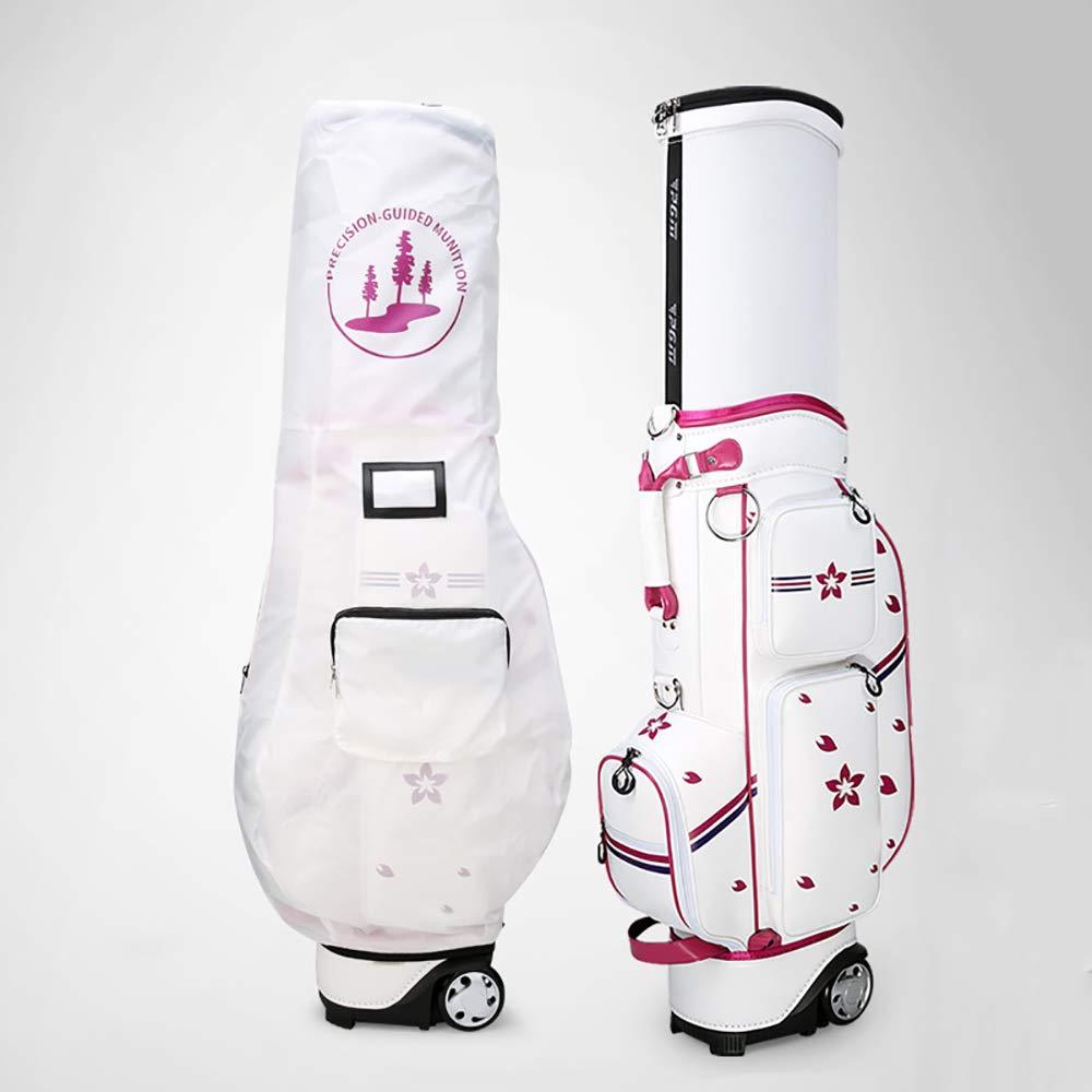 ゴルフカートバッグ、収縮ボールキャップ付きレディースプリント、牽引防水シェル、49.61 * 19.63 * 9.06 インチゴルフスタンドバッグ  A B07PP75VPP