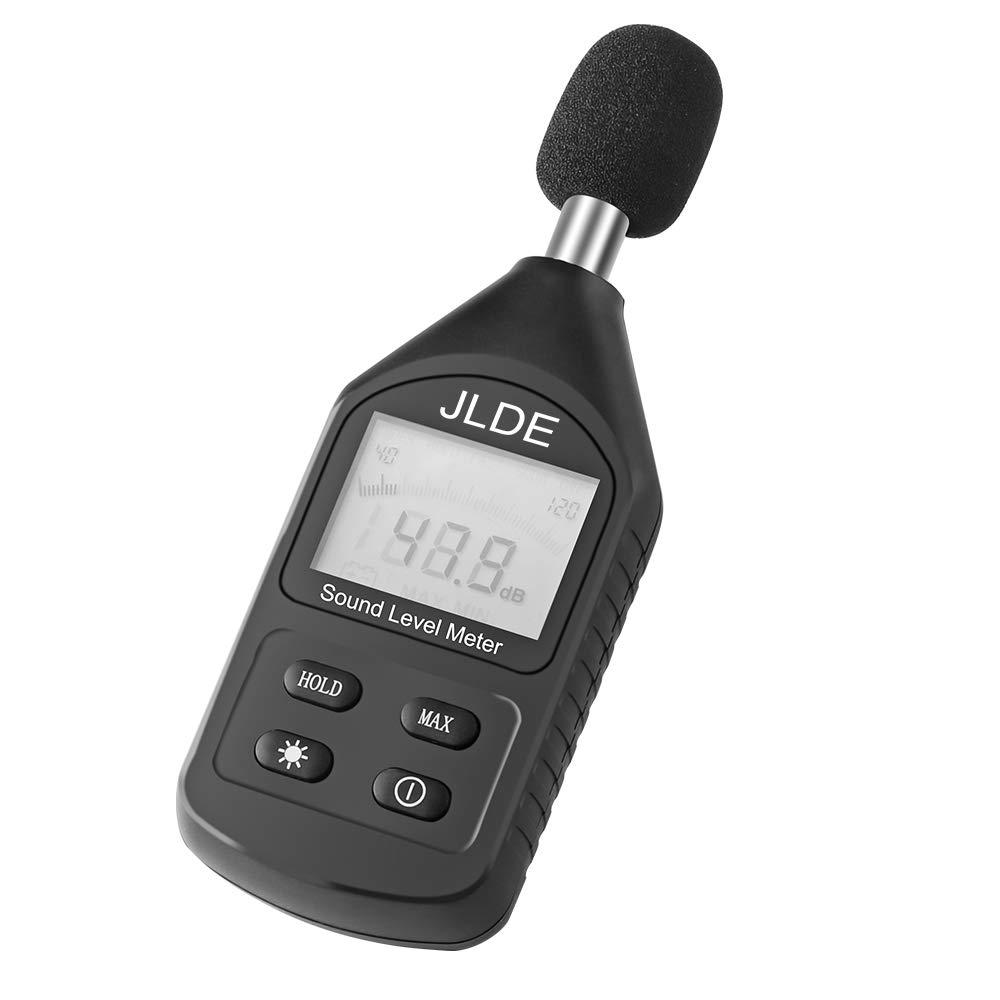 PJLSW Decibel Meter,Digital LCD Backlight Display Sound Level Meter Range 30-130dB Portable Noise Volume Measuring Instrument Black by PJLSW