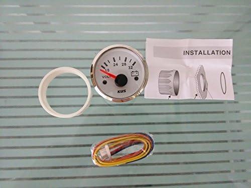 5,1/cm Kus Voltmeter wei/ß Frontplatte 24/V//18 32/V mit Hintergrundbeleuchtung 52/mm