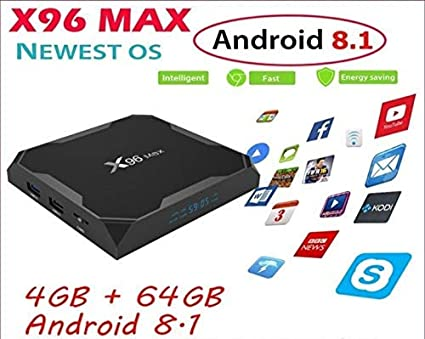 RKTech X96 MAX Android 2 4G and 5GHz WiFi 8 1 4GB 64GB