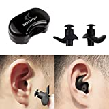 Brukween Swimming Earplugs Waterproof Professional Comfort Fit Ergonomics Non-Skid Surf Diving Bath Silicone Gel Ear Protection for Adults and Children