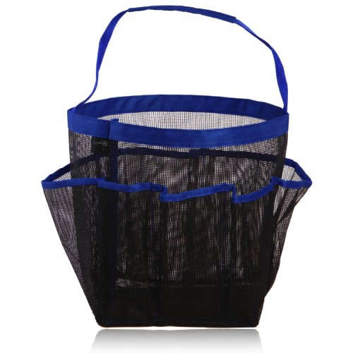 miQQi Living Large Pockets Shower Caddy for Bathroom Accessories & Mirror - Standard Packaging - Blue by miQQi Living (Image #1)