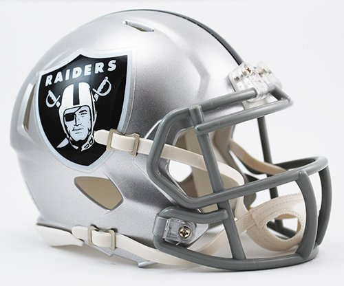 - Oakland Raiders Riddell Revolution Speed Mini Football Helmet