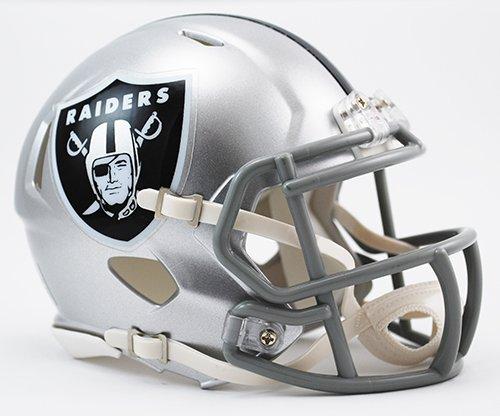 Oakland Raiders Riddell Revolution Speed Mini Football Helmet ()