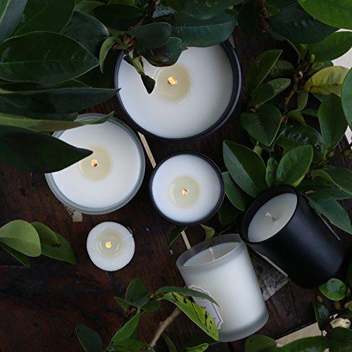 45 Pot Simple Mèche De Combustion Heures Bougie Par Neoviva Rose Et Orange Parfumée Lune Noire