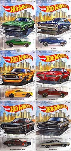 Muscle Car Set - Hot Wheels Detroit Muscle Car Complete Series 6 Car Set