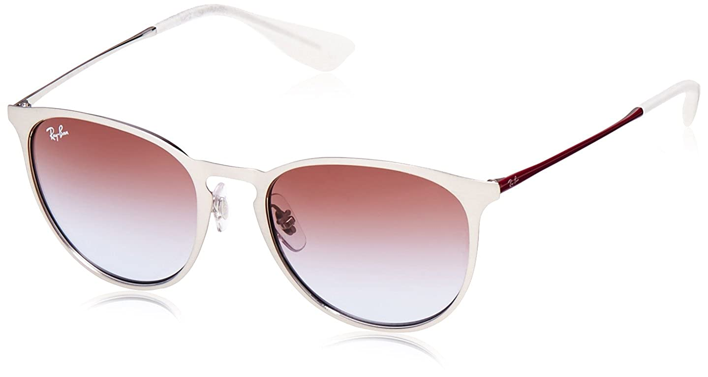 9e2c1c61dbce Amazon.com  Ray-Ban Erika Metal Round Sunglasses BRUSCHED SILVER 54 mm   Clothing