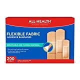 All-Health Flexible Fabric Adhesive Bandages, Assorted Sizes, 200 Count