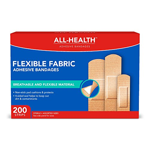 - All-Health Flexible Fabric Adhesive Bandages, Assorted Sizes, 200 Count