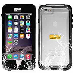 Cewaal Waterproof Full Body Protective Case Shell for iphone 6 plus 5.5'' -Black
