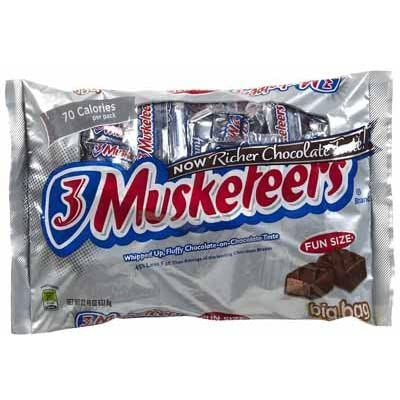 3 Musketeers Fun Size Candy Bars - 3 lb. : Grocery & Gourmet Food