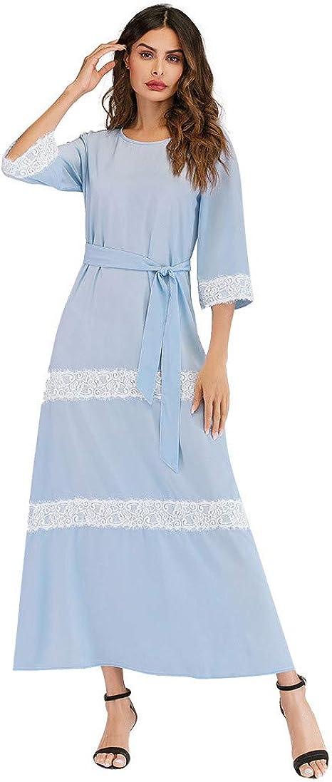 Chejarity Jupe Longue Femme, Robe Couture de Dentelle
