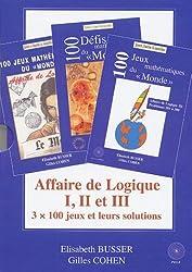 Affaire de Logique Coffret 3 volumes des Jeux mathématiques du