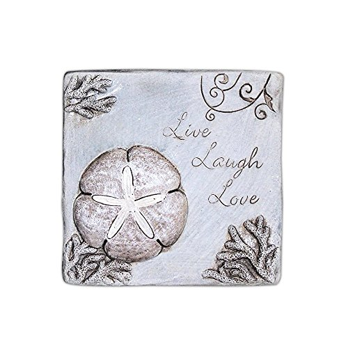 "Mayrich 7.5"" Coastal Motif Cement Wall Plaque (Live Laugh Love)"