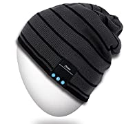 #LightningDeal Rotibox Bluetooth Beanie Hat, Winter Outdoor Sport Knit Cap with Wireless Stereo Headphone Headset Earphone Speaker Mic Hands Free Compatible with iPhone Samsung Android Cell Phones