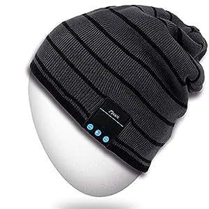 2249ce532de Amazon.com  Rotibox Bluetooth Beanie Hat