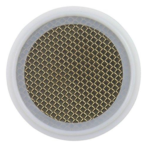 PTFE Sanitary Tri-Clamp Screen Gasket, White - 3'' w/ 325 Mesh & 10 Mesh Backer (316L Stainless Steel)