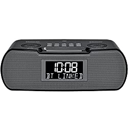 Sangean RCR-20 FM-RDS (RBDS) AM/Bluetooth/Aux-in/USB Charging Digital Tuning Clock Radio