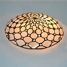Flush Mount Light Ceiling Lamp Tiffany Style 2 Bulbs for Living Room Dining Room