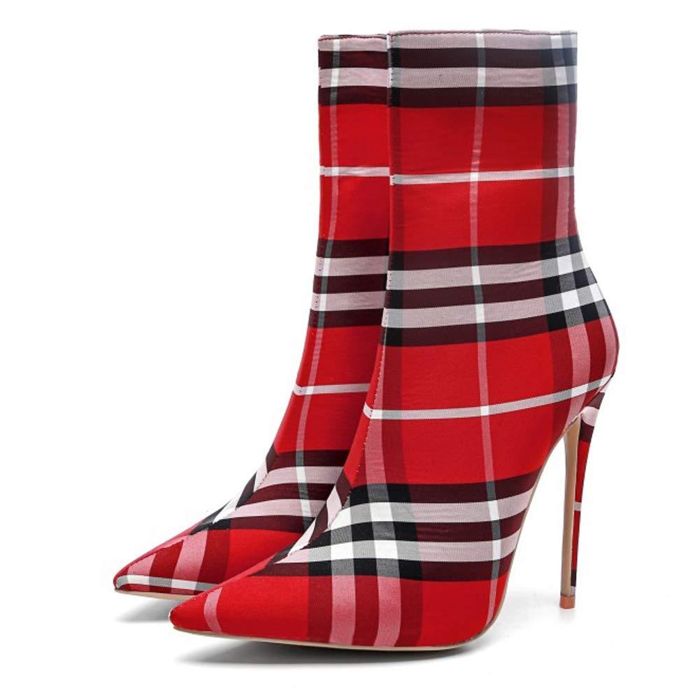 L@YC Frauen Stiefel Lange Winter Knie Reißverschluss Herbst High Heels (Größe 33-43) Wasserdichte geschlossene Zeh