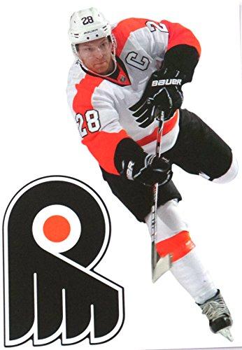 "FATHEAD Claude Giroux Mini Philadelphia Flyers Logo Official NHL Vinyl Wall Graphics 7"" INCH"