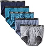 Fruit of the Loom Men's Big  Stripe Solid Brief - Colors May Vary, Assorted, 3X-Large(Pack of 5)