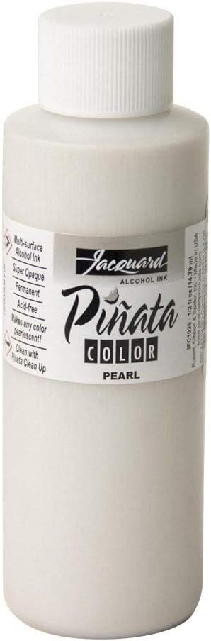 Jacquard Pinata Metallic Pearl Alcohol Ink That, Professional and Versatile Ink That Produces Color-Saturated and Acid-Free Results, 4 Fluid Ounces, Made in The USA