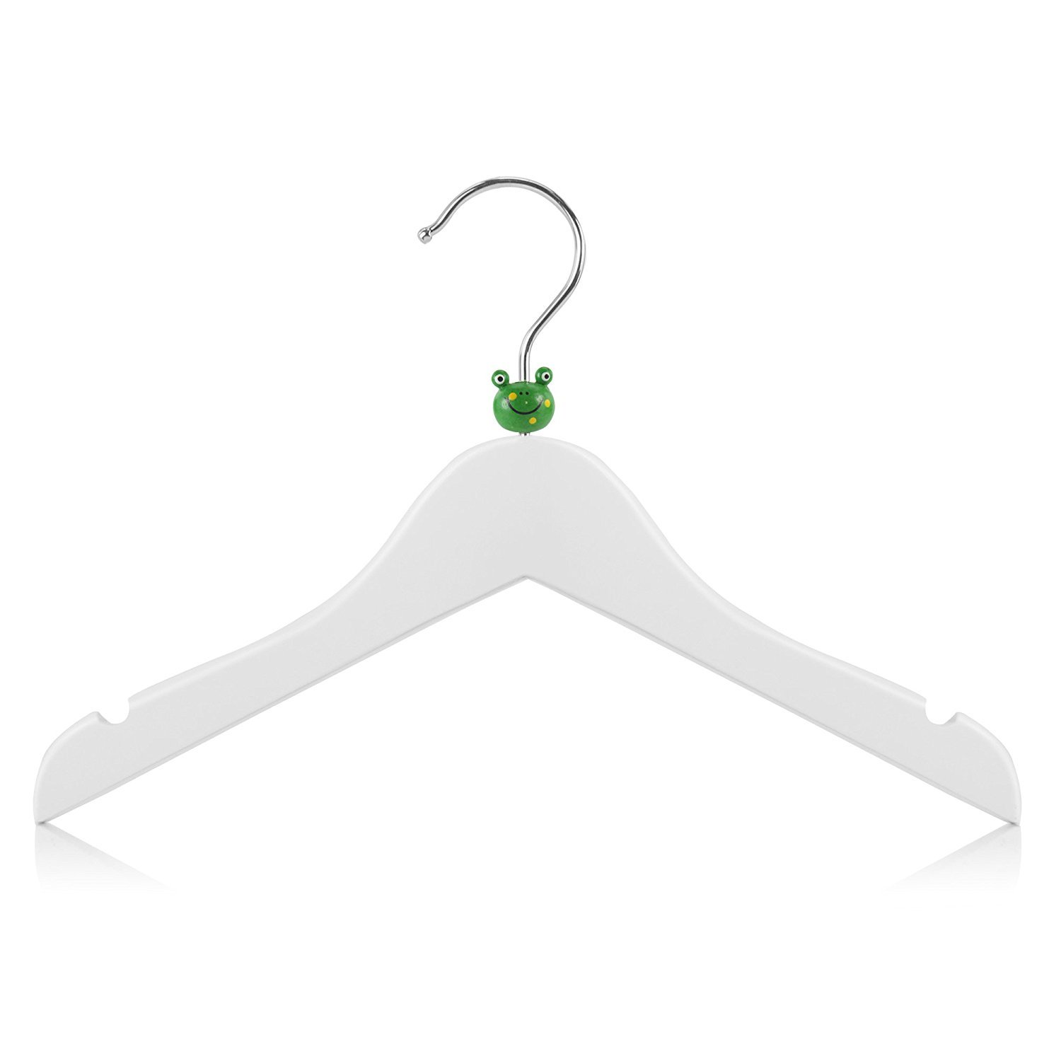 Hangerworld Baby & Toddler 11.8'' Wooden Coat Hangers with Fun Mixed Animal Head Design, Pack of 18, White by HANGERWORLD (Image #4)