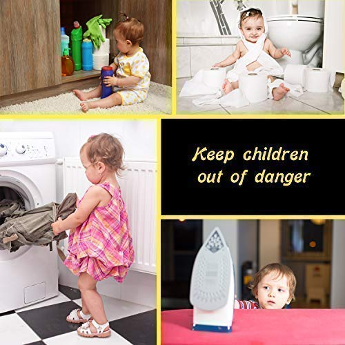 Door knob Baby Safety Cover - 5 Pack - Deter Little Kids from Opening Doors with A Child Proof Door Handle Lock - Driddle