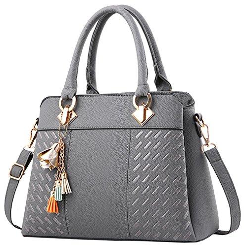 sacs Fourre tout à gris dames bandoulière femmes noir fourre de créateur des tout à grand Sac Mesdames mode qUq8r