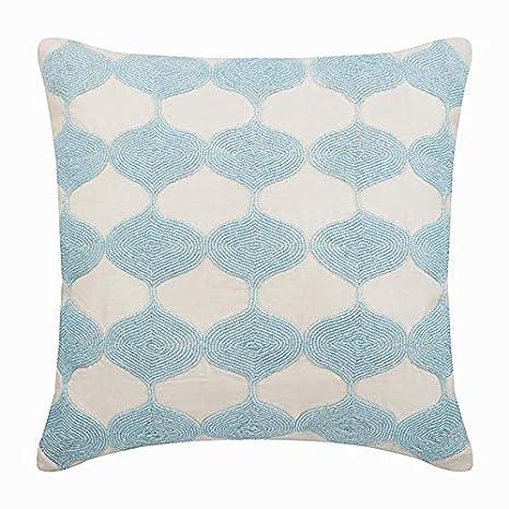 Diseñador Azul fundas para almohadones, Moldeado azul del ...