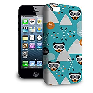 Phone Case For Apple iPhone 5 - Ski Fun Bears Hard Glossy