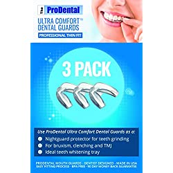 ProDental Thin and Trim Mouth Guard for Grinding Teeth  3 Pack, Made in USA | Night Guard Stops Bruxism - Teeth Clenching | Use as Customizable Teeth Whitening Dental Guard | FDA Approved Material