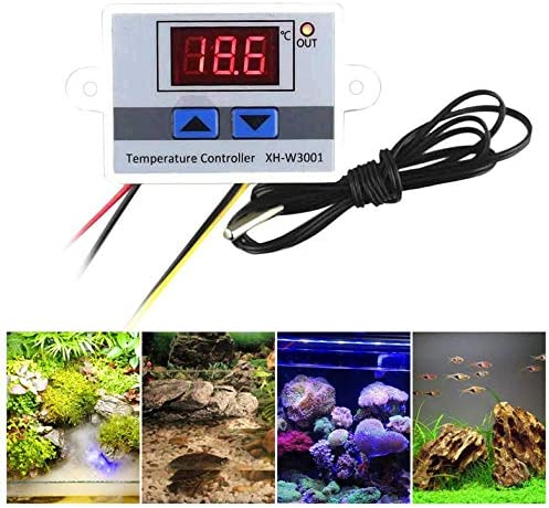 Digital LED Temperature Controller Thermostat Control Switch Waterproof Probe Wire Connect High Sensitivity Temperature Sensor