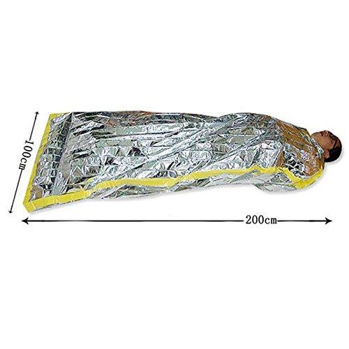 Sleeping Outdoor Bag Waterproof Emergency dingdangbell Camping Reusable Foil Silver Survival BqxZwAv8