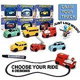 ZFLT Magic Inductive Car Toy Set Children Electric Toy Car Model with Battery 6 Models Randomized Scheme