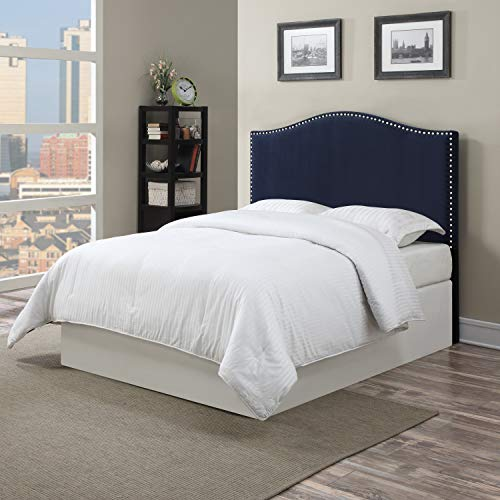 Domesis Full/Queen Headboard in Navy Blue Velvet (Velvet Navy Headboard)