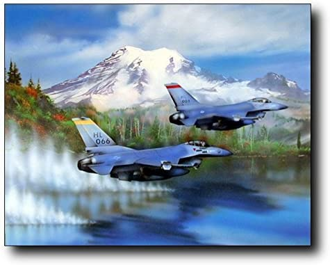 F16 FIGHTER JET AIRCRAFT MILITARY  WALL POSTER ART PICTURE PRINT LARGE