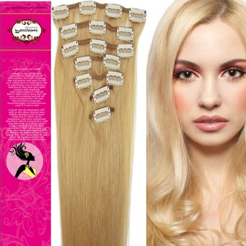 Blonde hair extensions clip in sally's