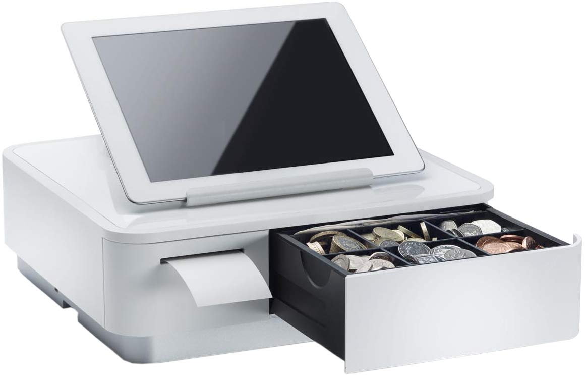 Star Micronics mPOP Integrated Receipt Printer & Cash Drawer with Tablet Stand - White by Star Micronics (Image #1)